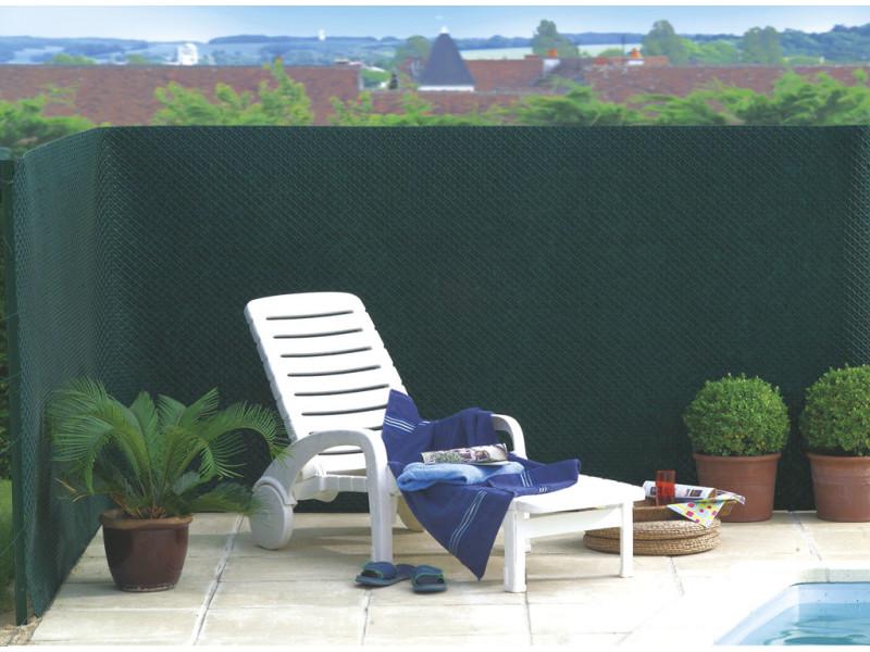 Intermas - brise vue vert en maille plastique 100% occultant 1,5 x 25 m tandem 170875