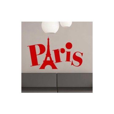 sticker paris vente de dezign conforama. Black Bedroom Furniture Sets. Home Design Ideas