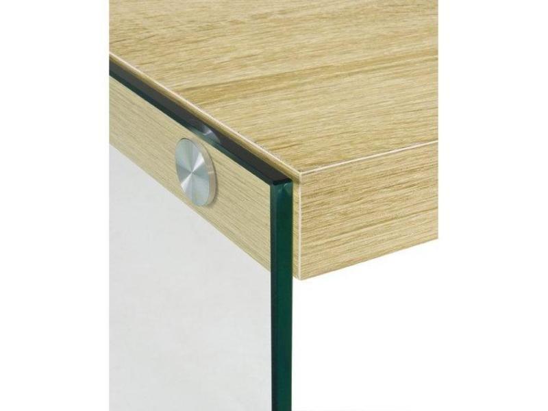 Table basse nina en verre et ch ne clair 20100836812 for Table basse en chene clair