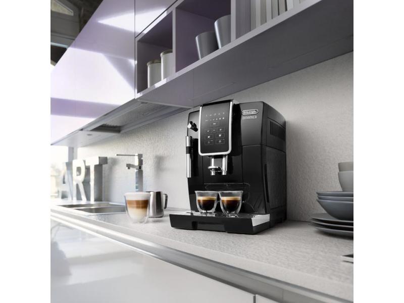 Machine à expresso avec écran et broyeur pour café en grains et moulu 1450w noir