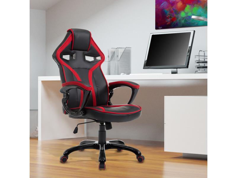 chaise fauteuil de bureau gaming racing bascule pivotant confortable accoudoirs rembourr s. Black Bedroom Furniture Sets. Home Design Ideas