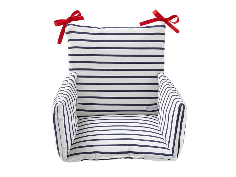 Coussin Chaise Haute Bébé Confort Coton Oeko Tex Mariniere