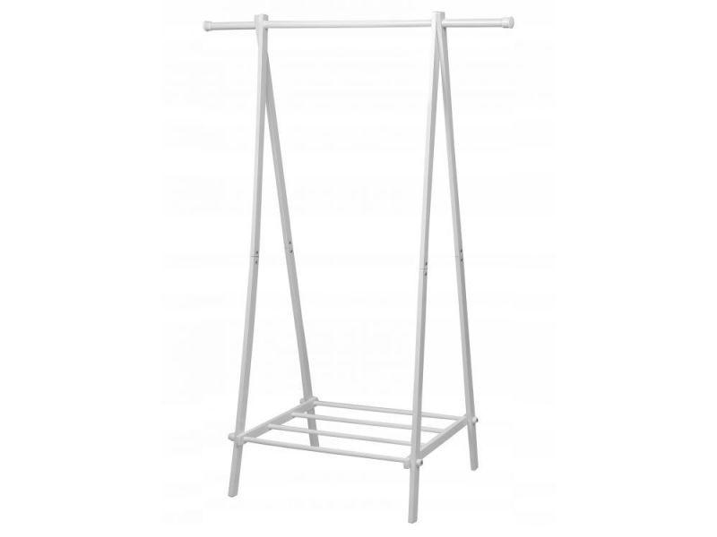Mstore - portant vêtements armoire penderie + armoire à chaussures couloir/chambre/dressing - 150x107x43,5 cm - en acier - blanc