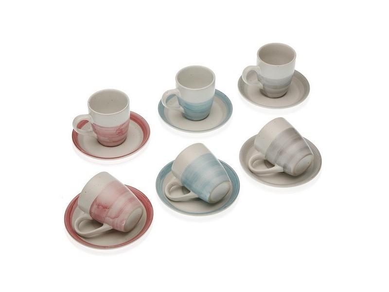 Tasses et thermos stylé ensemble de tasses à café rachel grès (6 pièces)