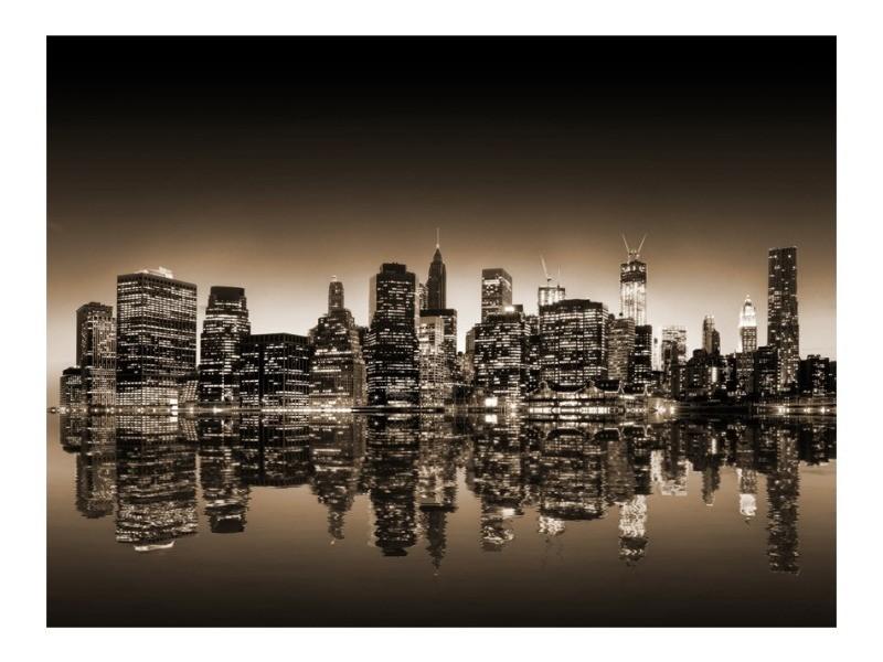 Papier peint - new york - sépia 350x270