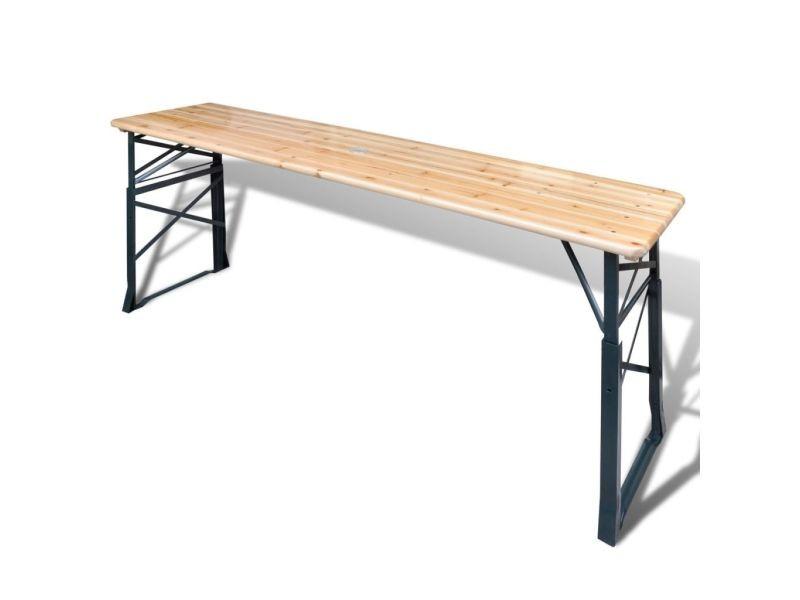 Icaverne - tables d'extérieur serie table de bière pliable 179 x 50 x 75 / 105 cm pinède