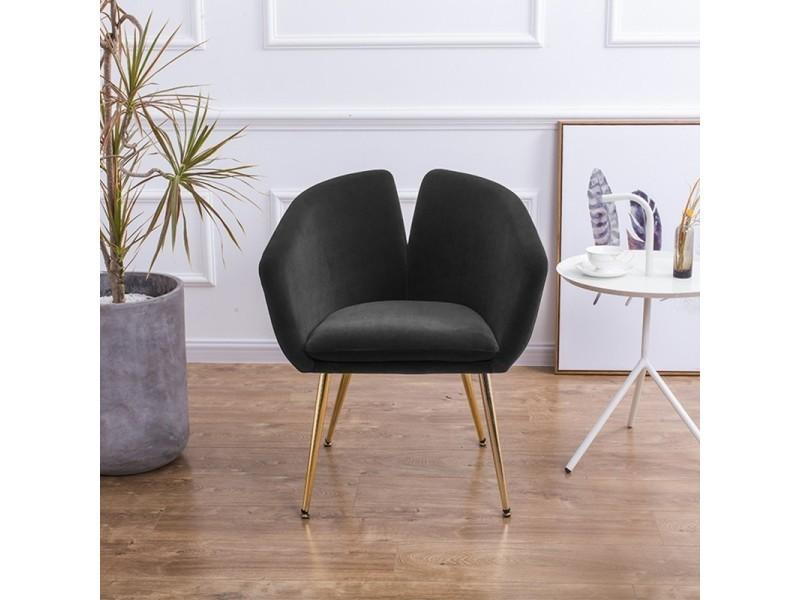 Chaise design velours love - velours noir