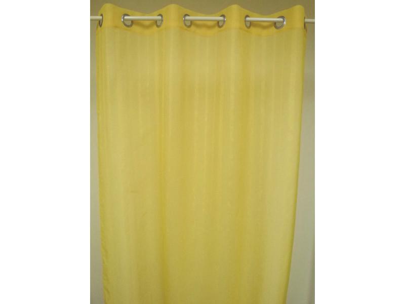 Rideau prêt à poser en 100 % polyester coloris jaune soleil - dim : l 140 x h 260 cm -pegane-
