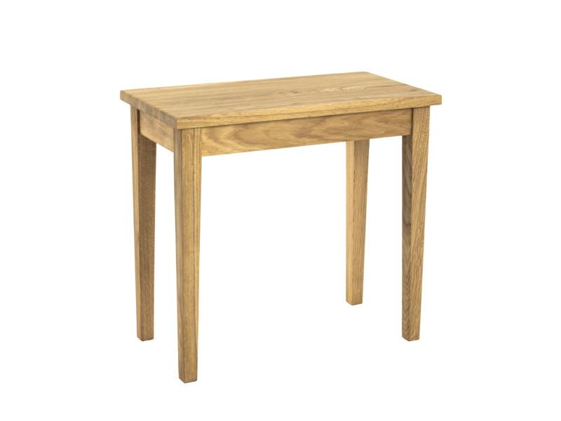 Table d'appoint en bois massif chêne huilé - 56 x 30 x 52 cm -pegane-