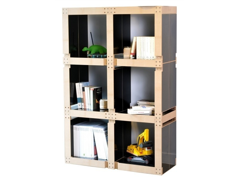 meuble biblioth que vente de fabulem conforama. Black Bedroom Furniture Sets. Home Design Ideas