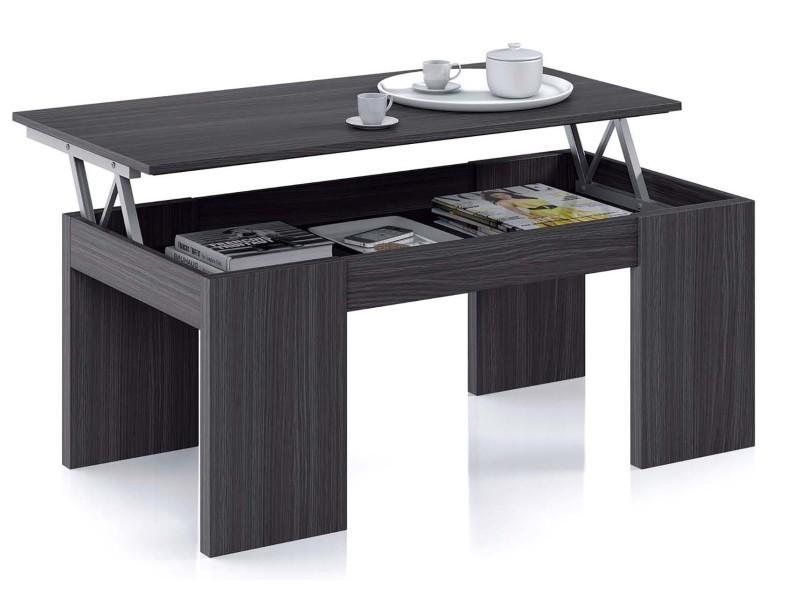 Table Basse à Plateau Relevable Coloris Gris Cendre Dim