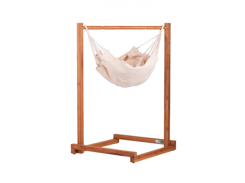 Set de support hamac bébé yokiko en bois, dim : 65 x 65 x 110 cm -pegane-