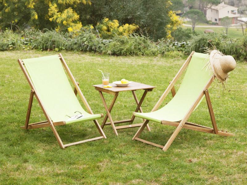 Table basse de jardin en acacia couleur teck cenari - Vente de Salon ...