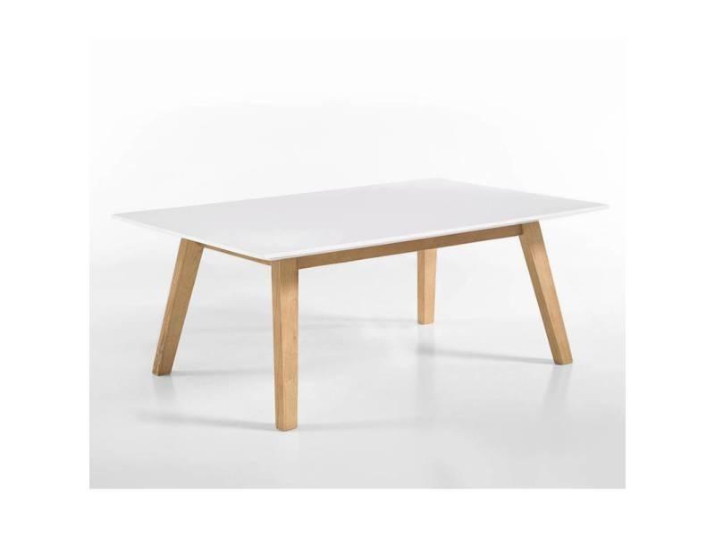 Table basse clement style scandinave laque blanc mat 20100880990