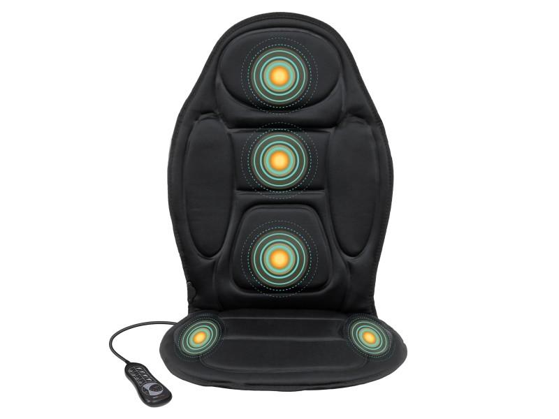 Housse de siège de massage avec fonction de chaleur, 4 zones de massage apaisantes, 5 programmes de massage, 3 intesités de massage 390002286