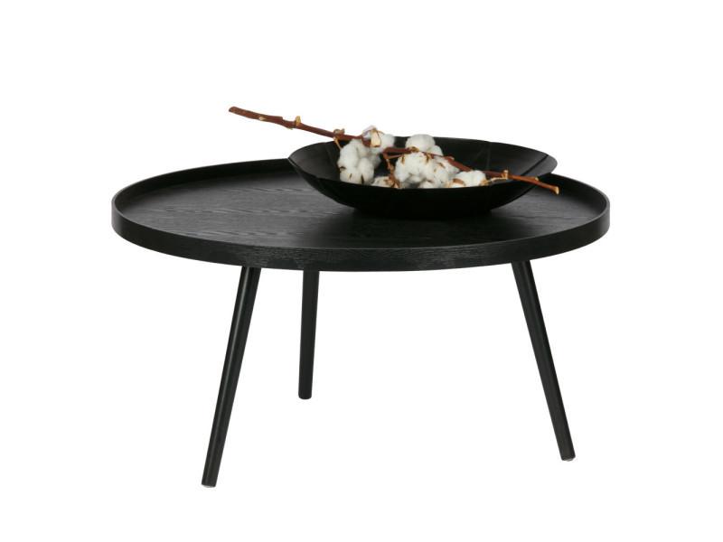 Mesa table d 39 appoint ronde bois xl couleur noir - Table basse ronde conforama ...
