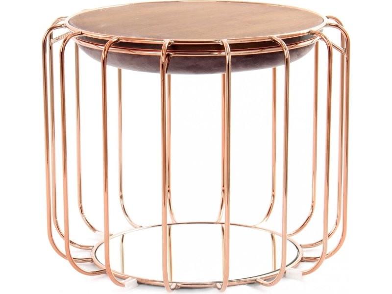 Pouf reverse table d'appoint confortable copper E3IDH