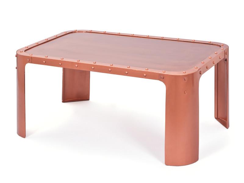 Table basse GORMUR Cuivrée Style industriel