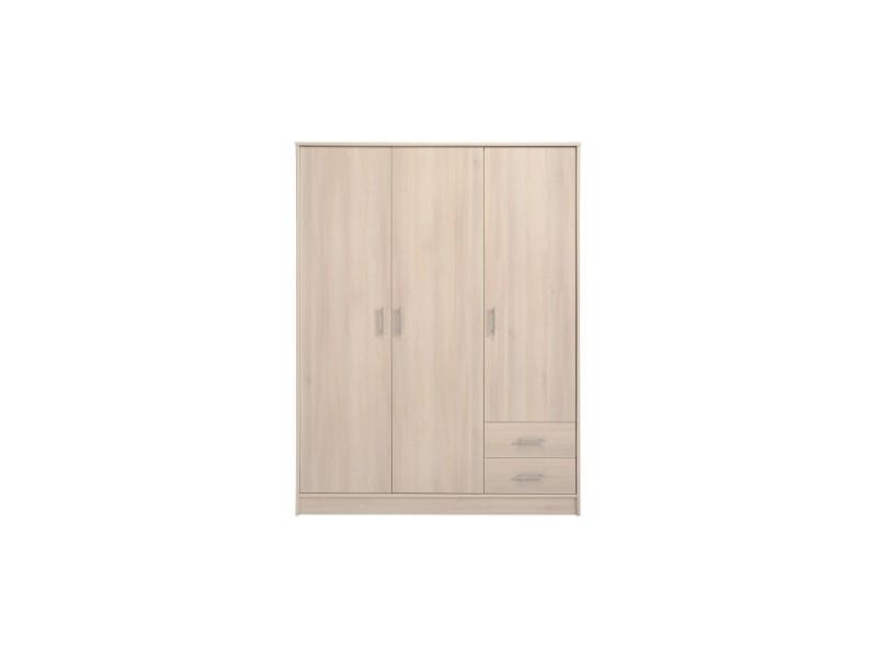 Armoire 3 portes soft 133 x 50 x 180 cm coloris - Armoire conforama 3 portes ...