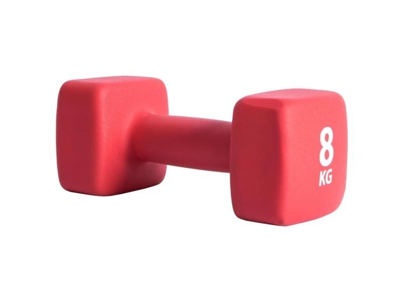 Pure2improve haltère 8 kg néoprène rouge 427694