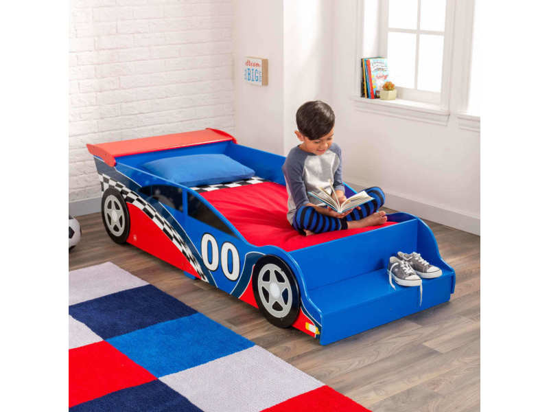 lit voiture de course enfant 76038 vente de kidkraft conforama. Black Bedroom Furniture Sets. Home Design Ideas