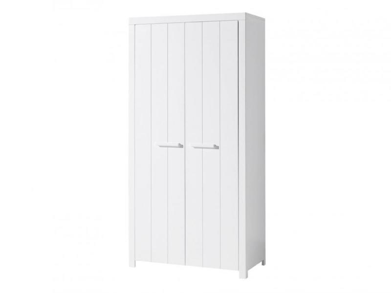Vipack erik armoire 2 portes en bois laqué blanc longueur 100cm ERKL1214