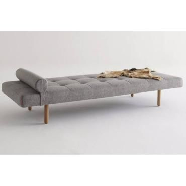 M ridienne lit daybed napper stem gris mixed dance grey for Canape convertible profondeur 80 cm