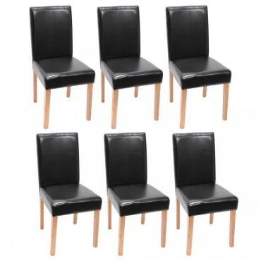 best lot de chaises de salle manger similicuir noir pieds clairs cds with conforama chaise salle manger - Chaise De Salle A Manger Conforama