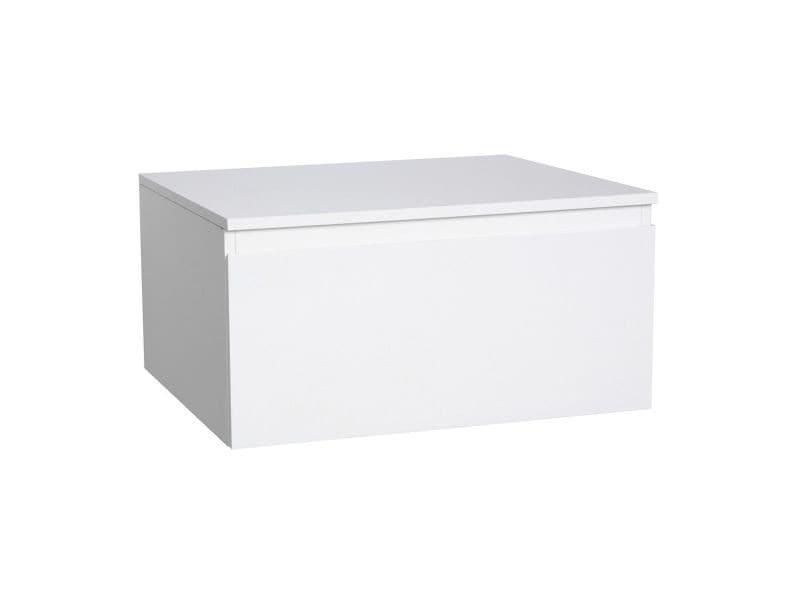 Meuble tiroir / module de rangement salle de bain will - décor chêne ou blanc laqué