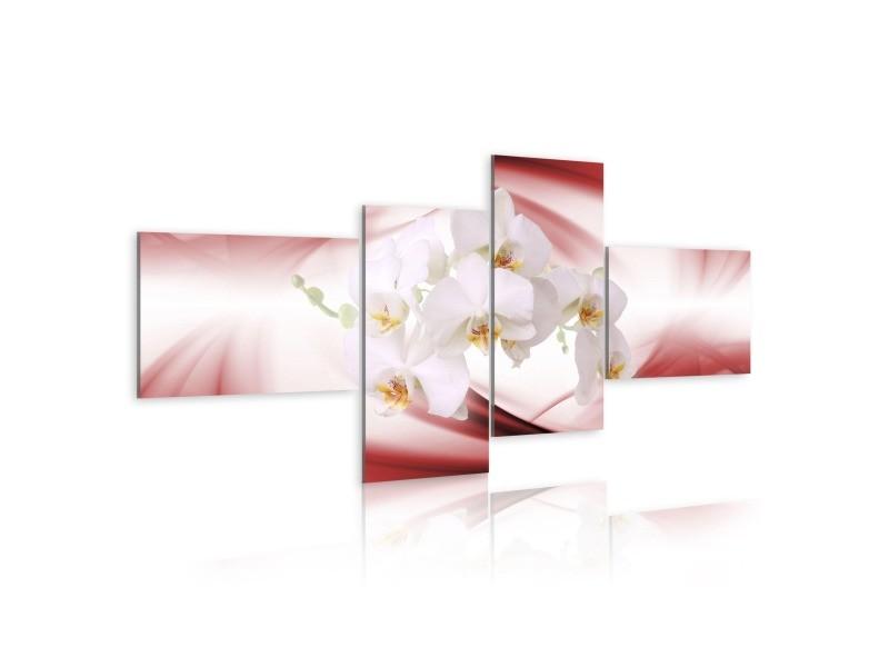 Tableau - orchidée de couleur rose 100x45