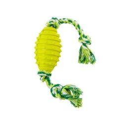 Jouet chien corde avec balle 10cm vert
