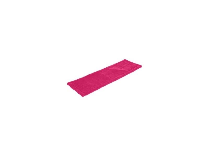 Recharge balai - 43,5 x 14 x 0,5 cm - polyester - rose