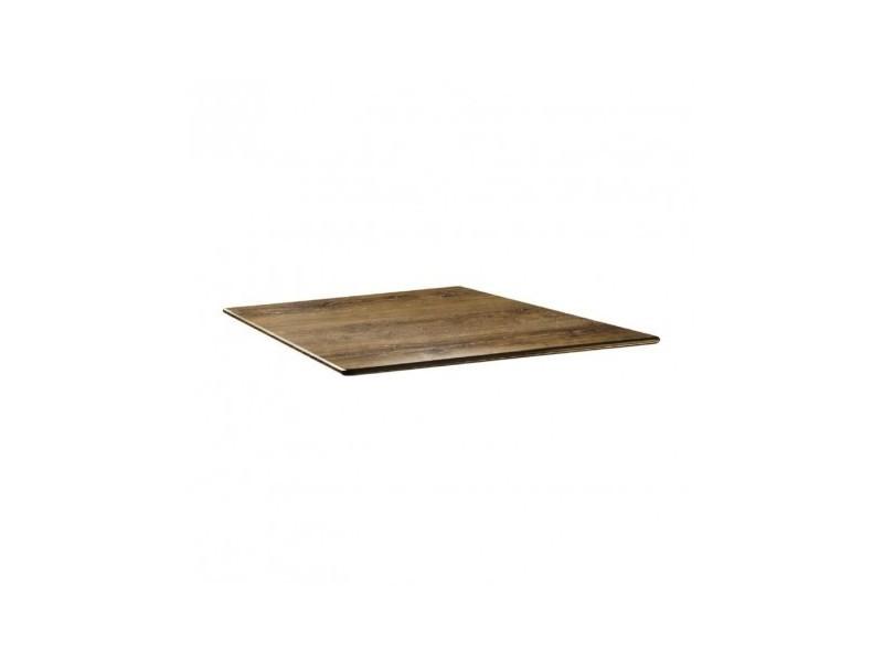 Plateau de table carré - 80 x 80 - smarline atacama cherry - bois