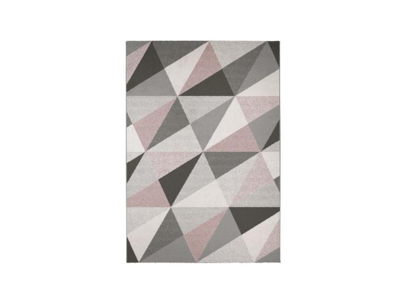 Madrid tapis style contemporain 120x170 cm blanc / rose - Vente de ...