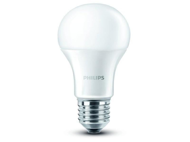 Ampoule led philips, lampe blanche, givré chaud, culot à vis e27 9w 230 v, verre, blanc, e27, 9 wattsw 230 voltsv