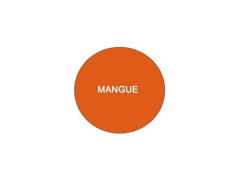Luton drap housse 90x200 mangue