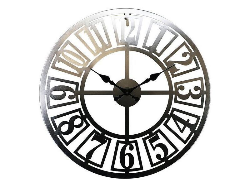 Horloges murales et de table splendide montre bois mdf/métal (60 x 3,5 x 60 cm)