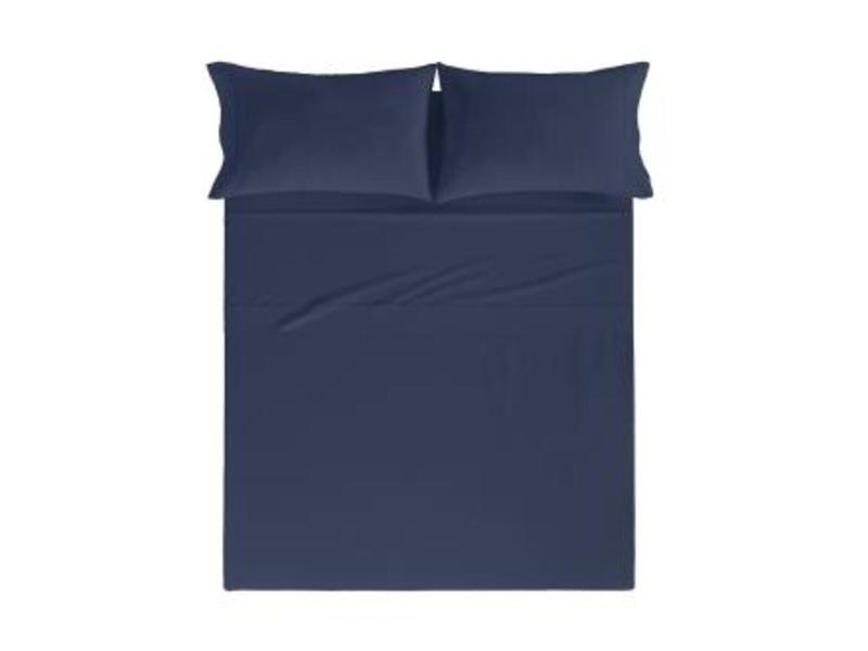 Drap de lit pure |160x280 cm|bleu marine 58886