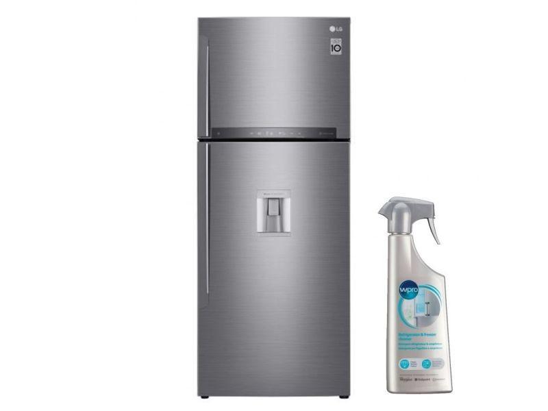 Réfrigérateur frigo double porte inox 438l a++ froid ventilé no frost wi-fi