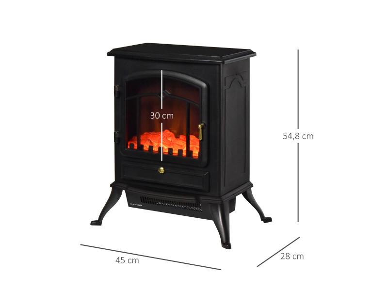 chemin e lectrique po le style r tro thermostat 950 1850. Black Bedroom Furniture Sets. Home Design Ideas