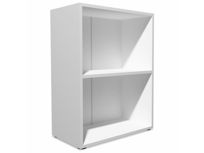 Étagère armoire meuble design bibliothèque aggloméré 78 cm blanc helloshop26 2702025/2