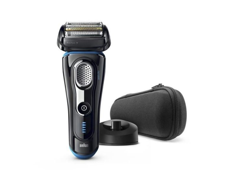 Braun series 9 9242s rasoir electrique - homme - base de recharge et pochette de voyage - noir et bleu BRA4210201217404