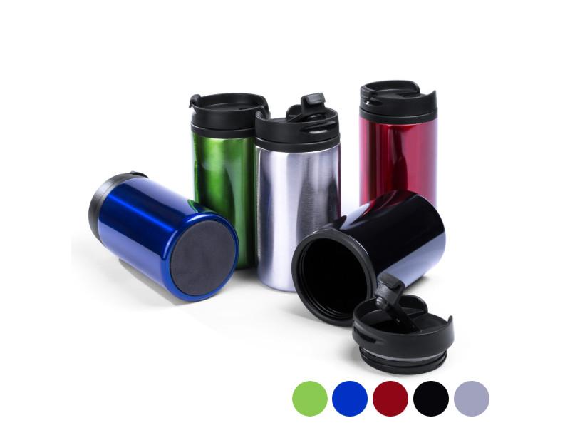 Carafes et verres originaux moderne couleur argenté verre avec couvercle (290 ml) 144880