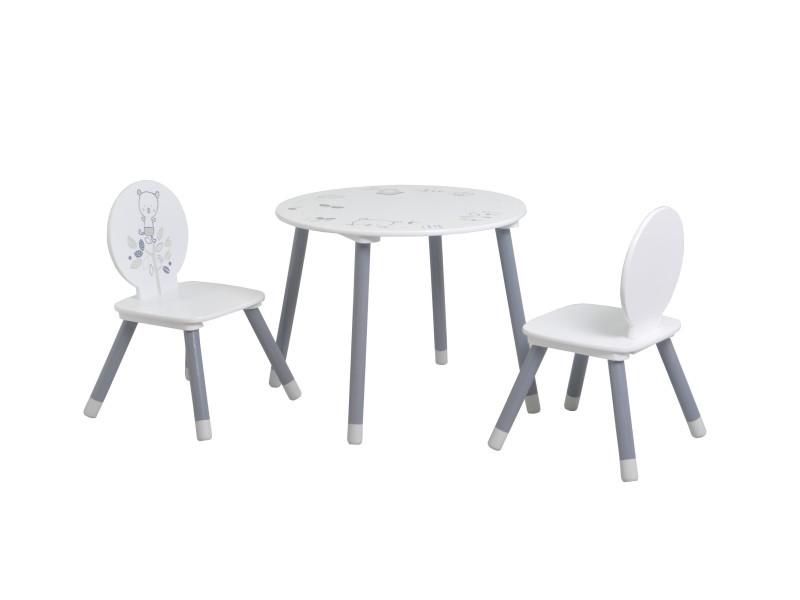 Table Enfant 2 Chaises Petit Ours Vente De Terre De Nuit Conforama