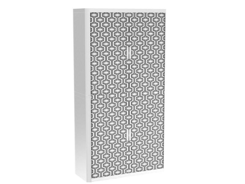 Armoire de bureau métalique porte coulissante h 2m - labyrinthe