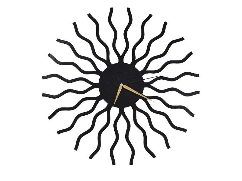 Homemania horloge de wall - art et graffiti - décoration, art mural, mur - salon, chambre, cuisine - noir en métal, 50 x 0,15 x 50 cm