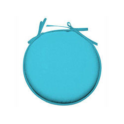 Galette de chaise ronde 100% polyester nelson turquoise