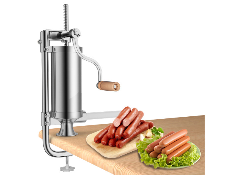 Giantex poussoir à saucisses viande 3l machine à saucisse remplissage de saucisse en acier inoxydable avec 4 x tubes