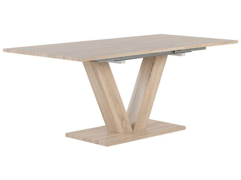 Table extenssible blanche 140/180 x 90 cm lixa 129575