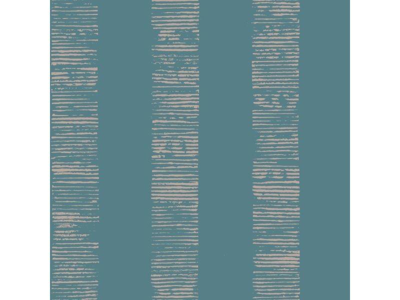 Papier peint intissé mara rayures métallique 1005 x 52cm turquoise 104268